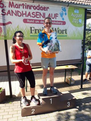 Sieg für Katja Voigtmann beim 6. Sandhasenlauf