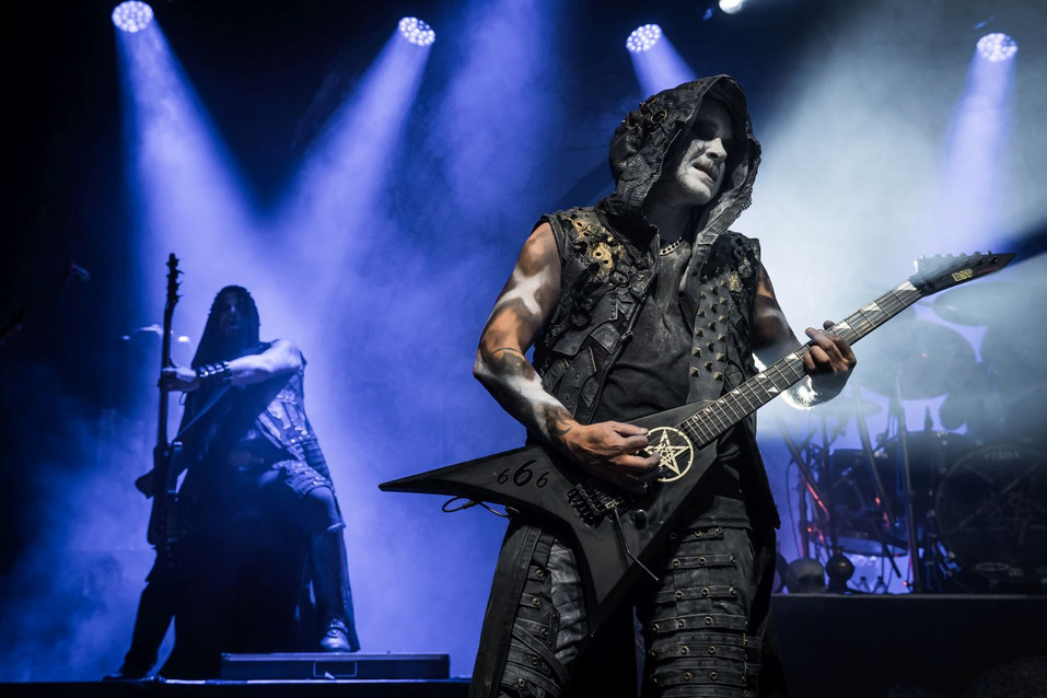 Galder, Dimmu Borgir band guitarist, at O2 Forum Kentish Town, London, UK, 22 January 2020