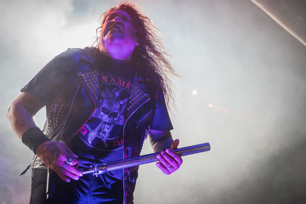 Chuck Billy, Testament, at O2 Forum Kentish Town, London, 6 March 2020