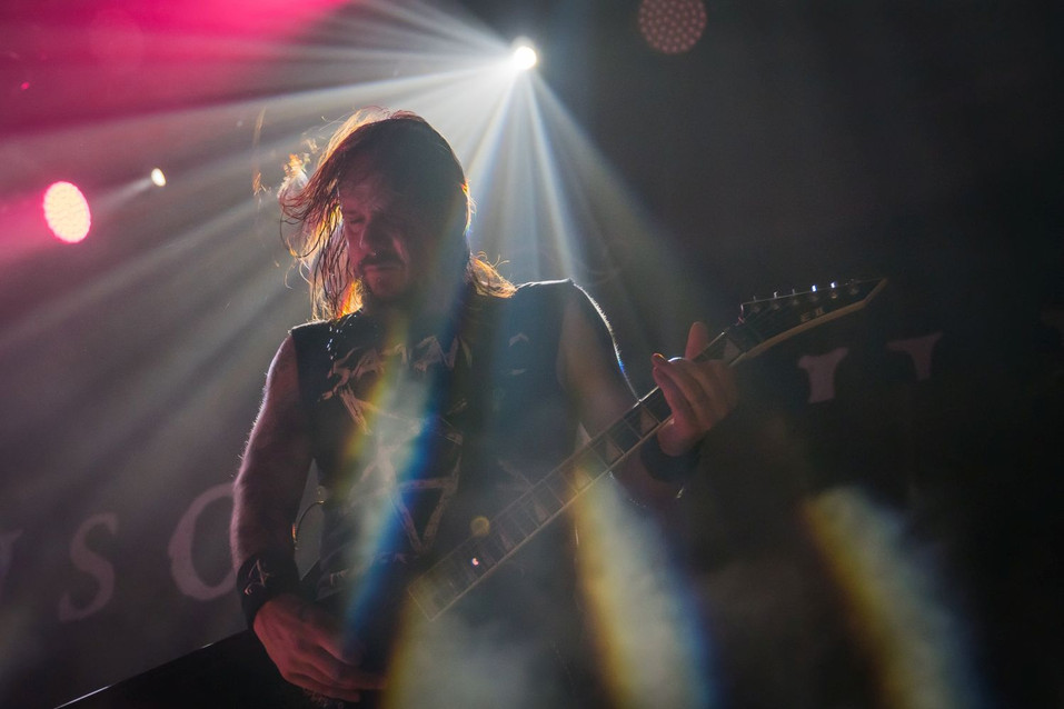 Jani Liimatainen, Insomnium, at Islington Assembly hall, London, 19th January 2020