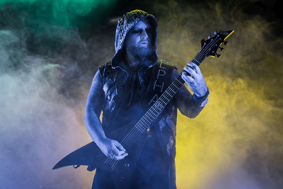 Silenoz, Dimmu Borgir band founder and guitarist, at O2 Forum Kentish Town, London, UK, 22 January 2020