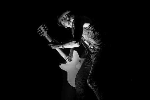 Dregen, guitarist of Backyard Babies (Sweden), concert at O2 Forum Kentish Town, London, 1 February 2020