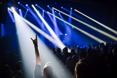 Heavy metal fans at a concert