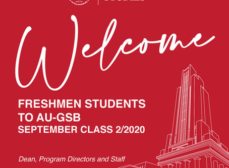Welcome GSB Freshmen Graduate Students to the Semester 2/2020