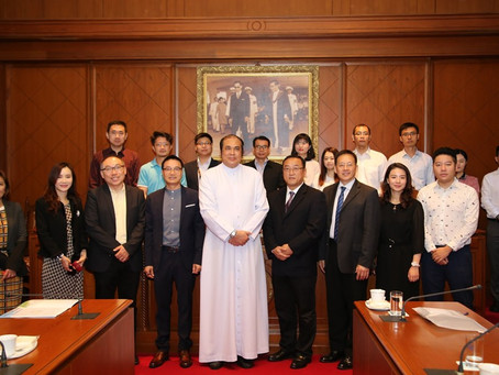 Welcome delegates from Guangdong Ocean University Cunjin College and Guangxi University