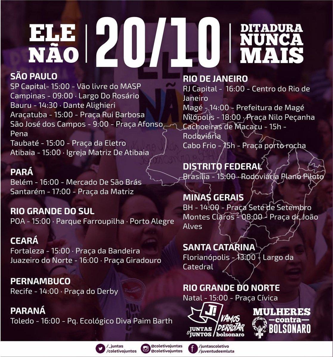 atos em todo o brasil