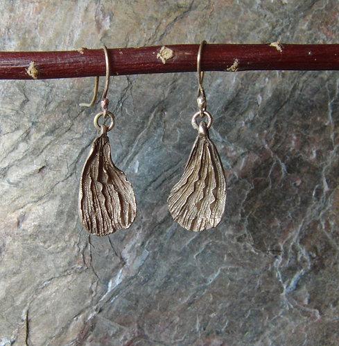 """Bronze Earrings """"Wings"""""""