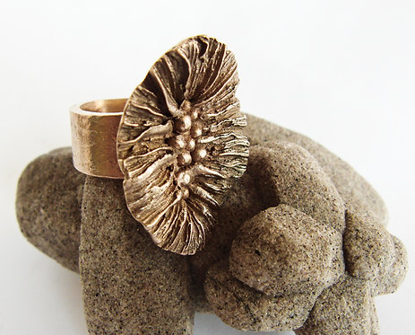 Coral Mushroom Ring (oval)
