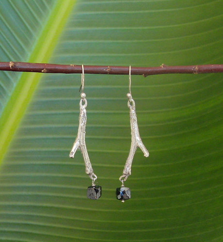 Branch Earring with Labradorite