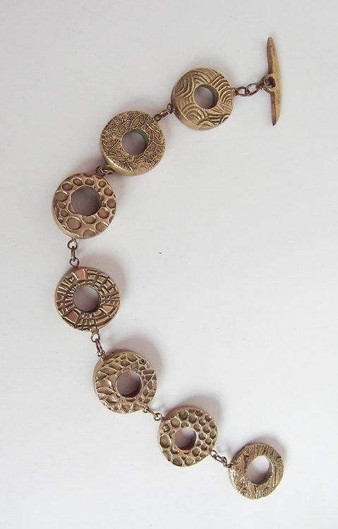 Texture Circles Bracelet