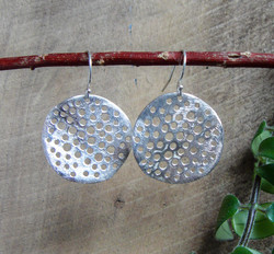 """""""Large Disc with holes"""" Earrings"""