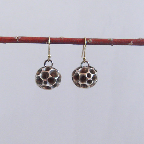 """Ball with chambers"" Earrings"