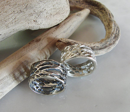 Silver Prickly Pear Rings