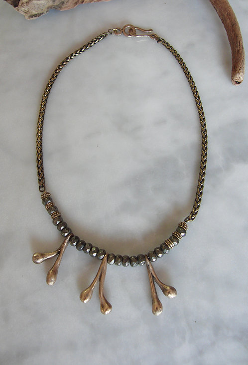 "Bronze Necklace ""Feelers"""