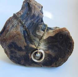 """Orbit"" Pendant with Labradorite"