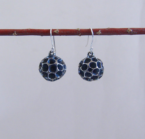 """Ball with chambers"" Earrings"