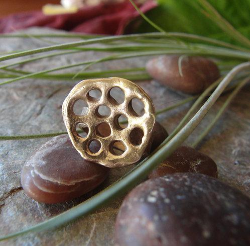"Bronze Ring ""Mushroom Society"""