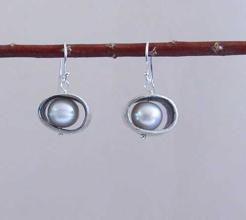 Sliced Pebble Earrings