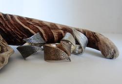 Twisted Sage Leaf Rings