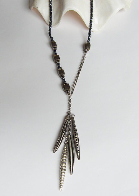 "Cocoon Cluster Necklace ""Cyanea"""