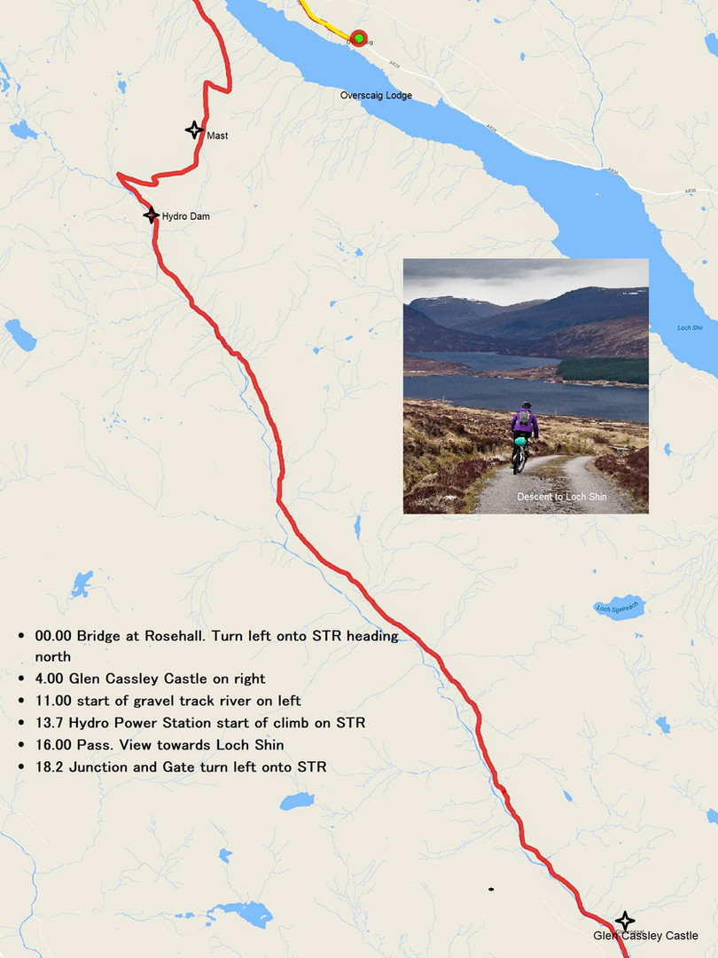 Day 7 am Rosehall to Loch Shin