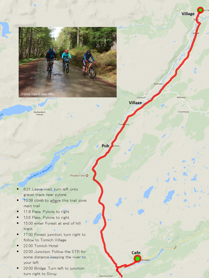 Glen Affric to Struy