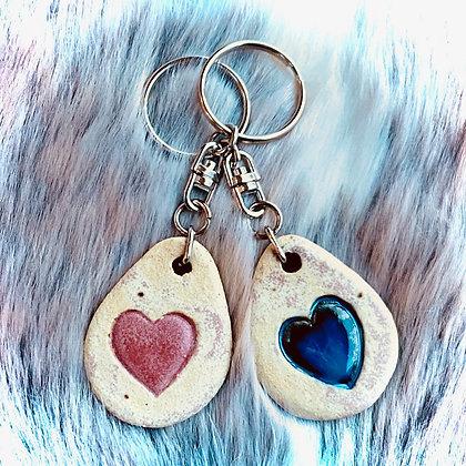 Pair of Keyrings, Hearts
