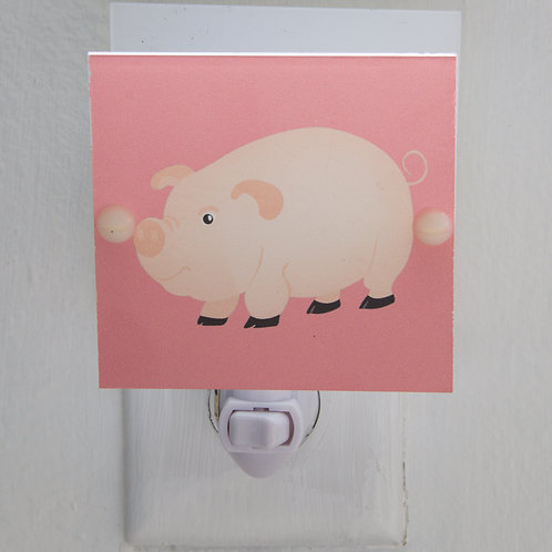 Adorable Pink Pig Night Light Perfect for Nursery or Kids LED Bulb & Free Ship