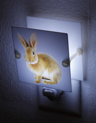 Adorable Bunny Night Light Perfect for Kids Room Hand Made With LED Free Ship