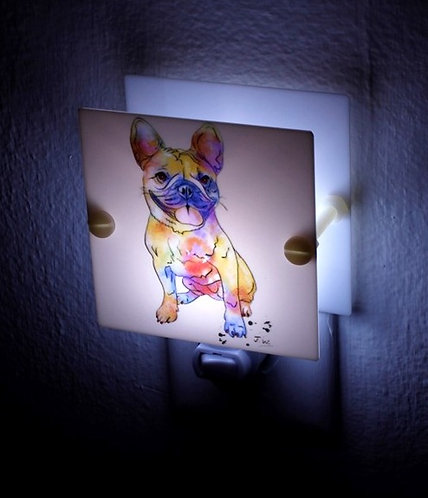 Multi Color French Bulldog Night Light Multi Color Hand Made Stocking Stuffer