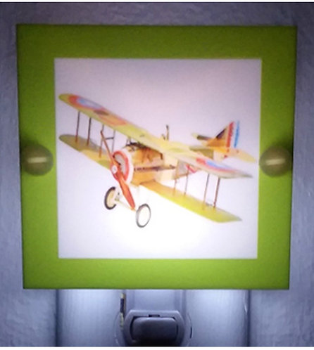 Kids Airplane From Air Show Night Light Hand Made With LED & Free Ship