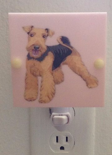 Adorable Airedale Terrier Night Lights Hand Made with LED Bulb Free Shipping
