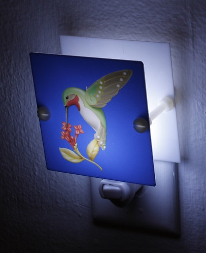 Multi Color Hummingbird Night Light Hand Made With LED and Free Shipping