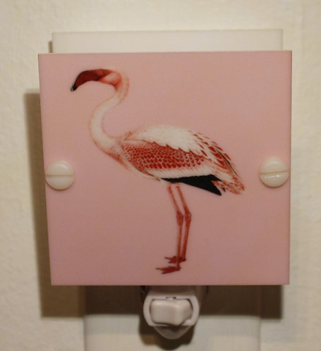 Flamingo LED Night Light Hanmade Pink and Red