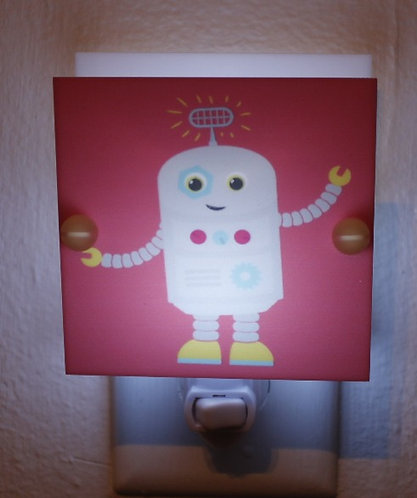 Red Robot Night Light Hand Made Night Light With Free Shipping and LE