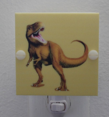 Dinosaur T Rex Hand Made Night Light Yellow and Brown Free Shipping with LED