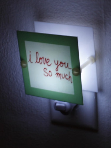 Austin I Love You So Much Souvenir Night Light Square Plastic LED