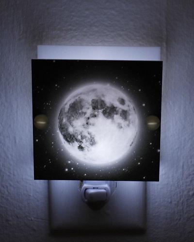 Mesmerizing Glowing Moon Night Light Hand Made Plastic LED