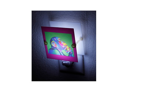 Colorful Artistic Chimp Monkey Plastic Night Light Hand Made Free Shipping
