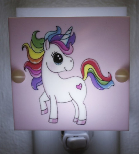 Rainbow Unicorn Night Light Hand Made With LED and Free Shipping