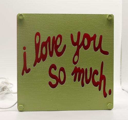 I Love  You So Much Table Lamp Austin Souvenir