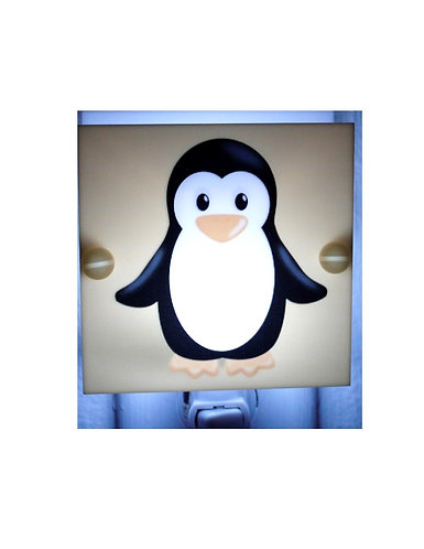 Penguin Night Light Yellow and Black Hand Made Perfect for Kids Room  Free Ship