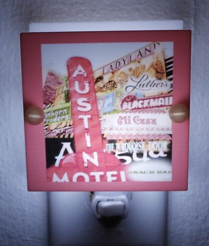 Austin Motel Night Light Nostalgic Austin Square Plastic Free Shipping