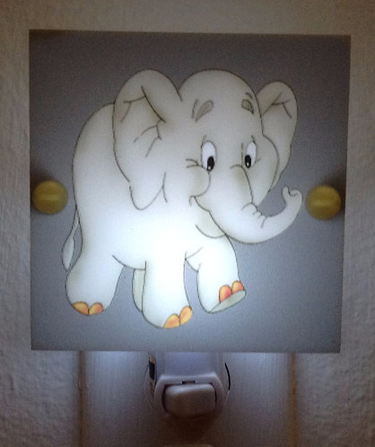 Baby Elephant Adorable Night Light Hand Made with LED Bulb Free Shipping