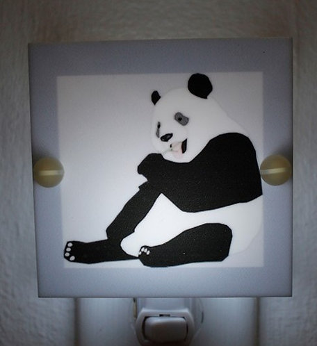 Panda Night Light Gray & Black Hand Made with LED & Free Shipping