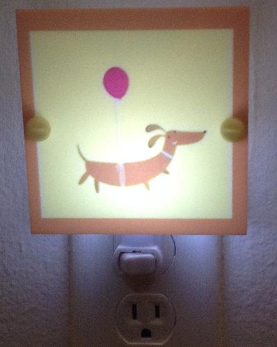 Dachshund Wiener Dog Brown & Yellow Night Light LED Bulb Free Shipping