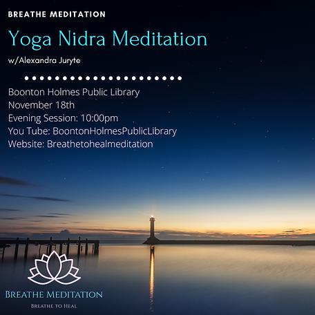 November 18th Yoga Nidra Meditation  .pn