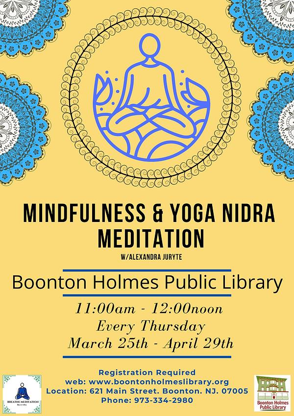 Mindfulness Yoga Meditation March 25th