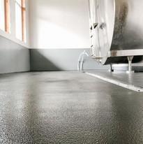 Wall & 3 layer floor coat installed in t