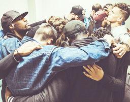 Men Together praying together